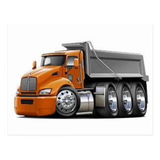Kenworth T440 Orange-Grey Truck Postcard