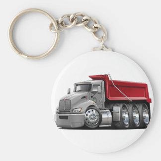 Kenworth T440 Silver-Red Truck Keychain