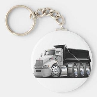 Kenworth T440 White-Black Truck Keychain