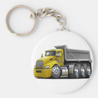 Kenworth T440 Yellow-Grey Truck Keychain