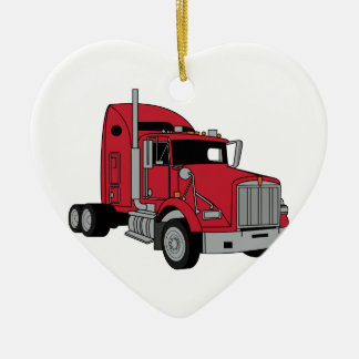Kenworth Tractor Ceramic Ornament