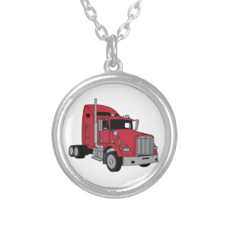 Kenworth Tractor Silver Plated Necklace