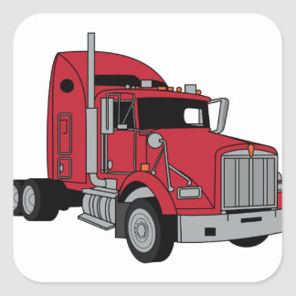 Kenworth Tractor Square Sticker