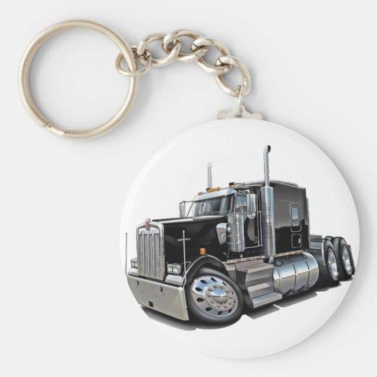 Kenworth w900 Black Truck Keychain
