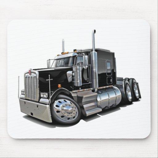 Kenworth w900 Black Truck Mouse Pad