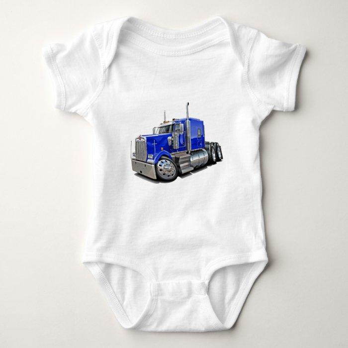 Kenworth w900 Blue Truck Baby Bodysuit