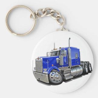 Kenworth w900 Blue Truck Keychain
