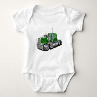 Kenworth w900 Green Truck Baby Bodysuit