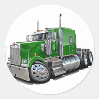 Kenworth w900 Green Truck Round Sticker