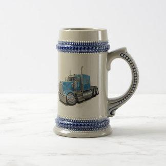 Kenworth w900 Lt Blue Truck 18 Oz Beer Stein