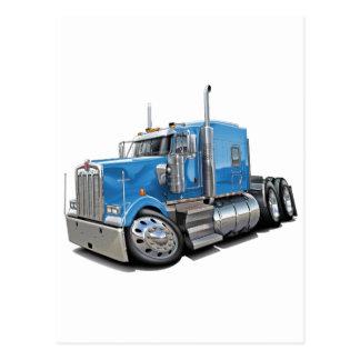 Kenworth w900 Lt Blue Truck Postcard