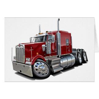 Kenworth w900 Maroon Truck Card