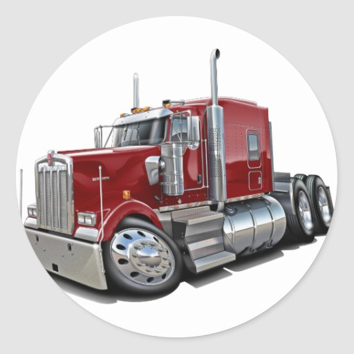 Kenworth w900 Maroon Truck Sticker