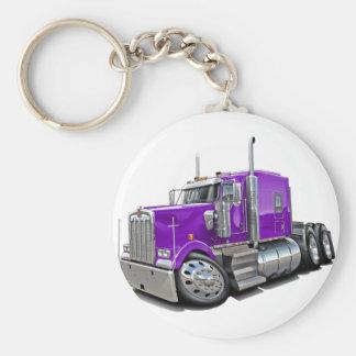 Kenworth w900 Purple Truck Keychain