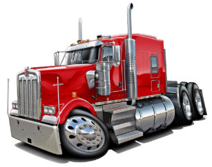 c9de52d3ac2 Kenworth w900 Red Truck Trucker Hat