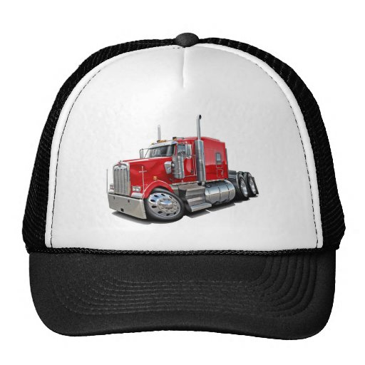 Kenworth w900 Red Truck Trucker Hat