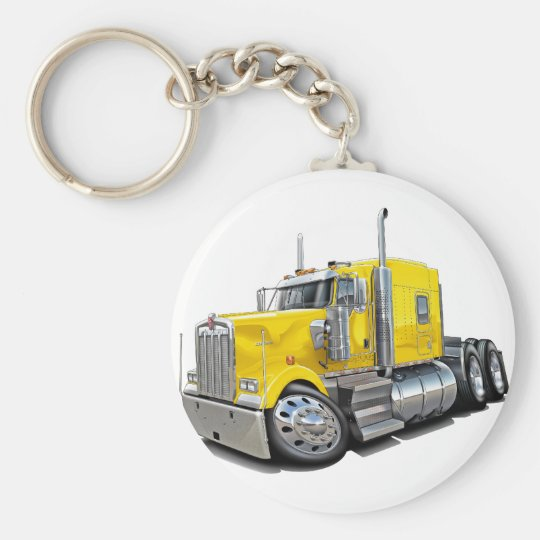 Kenworth w900 Yellow Truck Keychain