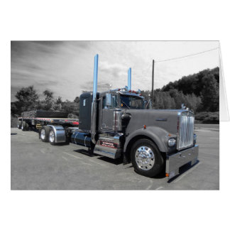 Kenworth W900A Flatbed Note Card