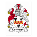 Kenworthy Family Crest Post Cards