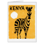 Kenya Africa Vintage Travel Poster Restored Card