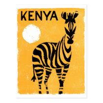 Kenya Africa Vintage Travel Poster Restored Postcard