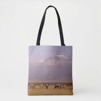 Kenya: Amboseli National Park, elephants Tote Bag