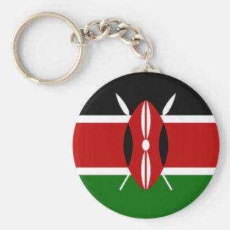 kenya basic round button keychain