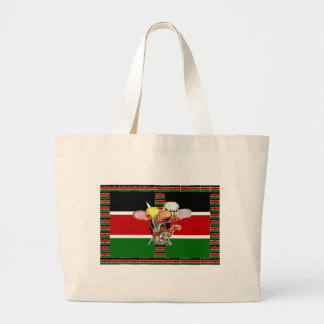 Kenya Birthday Large Tote Bag