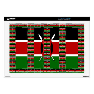 "Kenya Black red green Decals For 17"" Laptops"