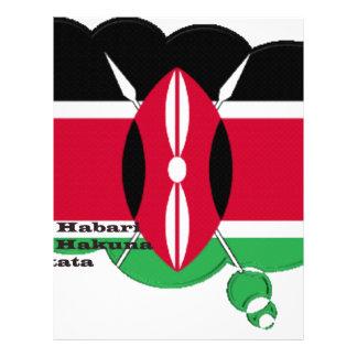 Kenya Black Red Green Letterhead
