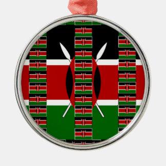 Kenya Black red green Metal Ornament
