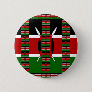 Kenya Black red green national pride and national Button