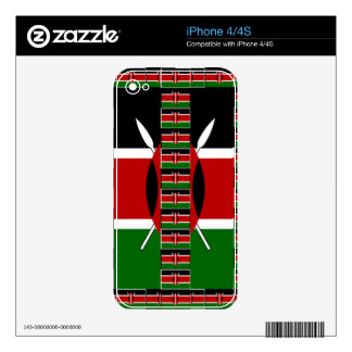Kenya Black red green skins for iPhone 4/4S iPhone 4S Skins