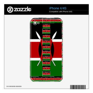Kenya Black red green skins for iPhone 4/4S iPhone 4S Skins