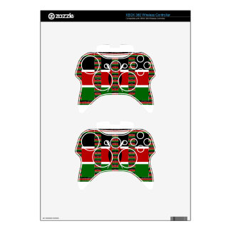 Kenya Black red green Xbox 360 Controller Skin