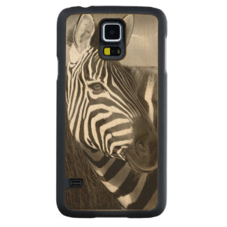 Kenya. Black & white of zebra and plain. Carved Maple Galaxy S5 Case
