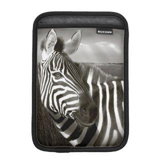 Kenya. Black & white of zebra and plain. Sleeve For iPad Mini