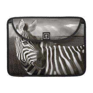 Kenya. Black & white of zebra and plain. MacBook Pro Sleeve