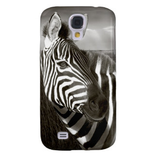 Kenya. Black & white of zebra and plain. Samsung Galaxy S4 Case