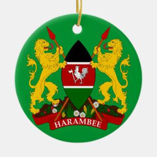 KENYA - Ceramic Christmas Ornament