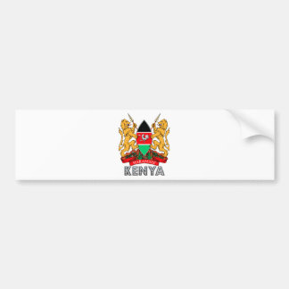 Kenya Coat of Arms Bumper Sticker