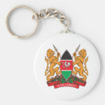 Kenya Coat Of Arms Key Chain