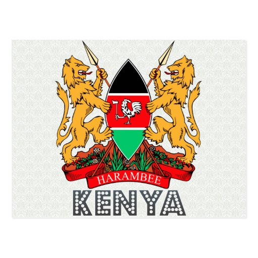 Kenya Coat of Arms Postcard   Zazzle
