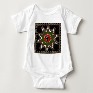 Kenya Coffee brown bordered design Baby Bodysuit