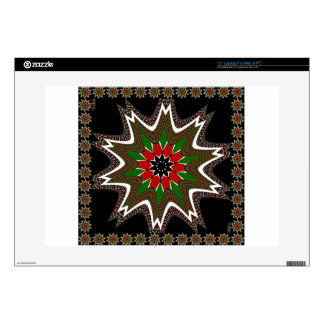 """Kenya Coffee brown bordered design Decals For 15"""" Laptops"""