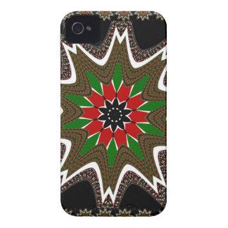 Kenya Coffee brown bordered design iPhone 4 Cover