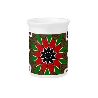 Kenya Coffee brown bordered design Pitcher