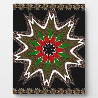 Kenya Coffee brown bordered design Plaque