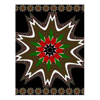 Kenya Coffee brown bordered design Postcard