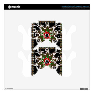 Kenya Coffee brown bordered design PS3 Controller Decal